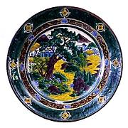 山水図平鉢