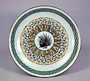 極彩色鉄線文様飾皿