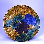 牡丹図平鉢