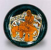色絵埴輪図飾皿